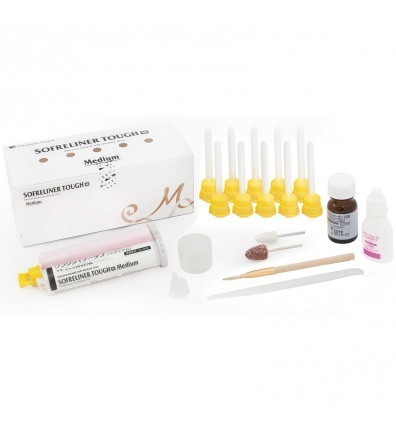 SOFRELINER TOUGH M KIT 48ML REBASE DENTAL BLANDO
