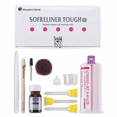 SOFRELINER TOUGH S KIT 48ML REBASE BLANDO PROTESIS