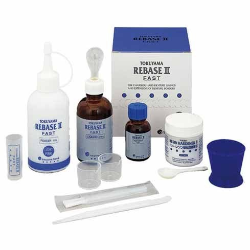 TOKUYAMA KIT REBASE DURO PROTESIS DENTAL 80GR + 50ML
