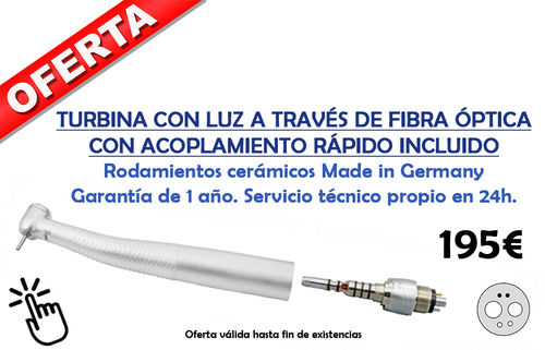 Turbina CX207 LUZ Fibra optica + acople Multiflex