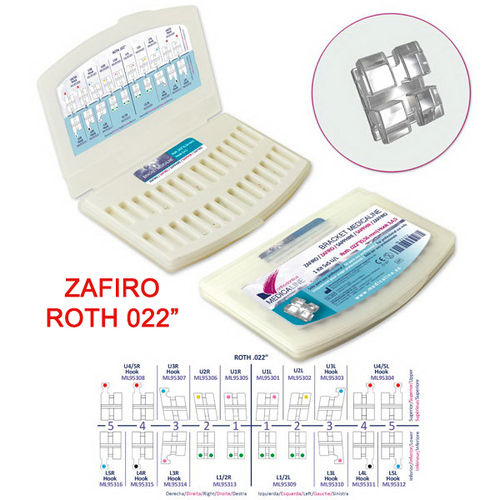 BRACKET DENTAL ML ZAFIRO ROTH 022 KIT