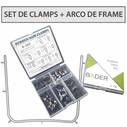 Set 10 Clamps + Arco de Young metalico Bader