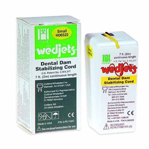 WEDJETS DENTAL LATEX AMARILLO 2,1 M HYGENIC