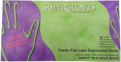 Guantes Latex Sin polvo Aroma Menta Supermax 100 Ud.