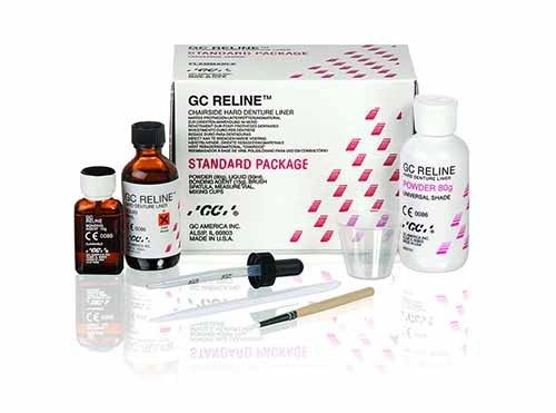 RELINE REBASE DENTAL DURO KIT 80GR + 50ML GC