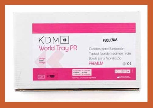 World Tray PR KDM Cubeta dental Fluor Premium Pequeña 50u