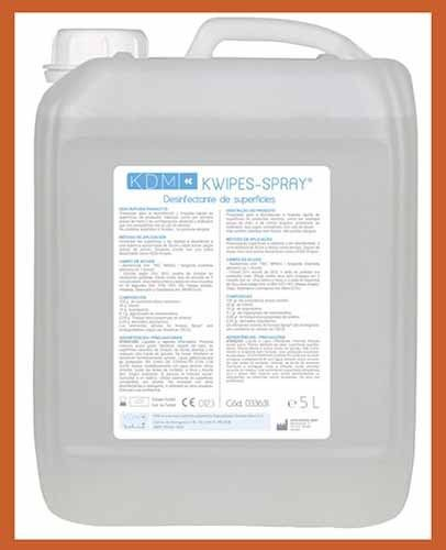 Kwipes Spray KDM 5L Desinfectante Superficies