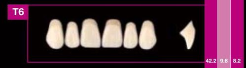 Dientes Cosmo HXL T6 (ant. sup. forma trapecial)